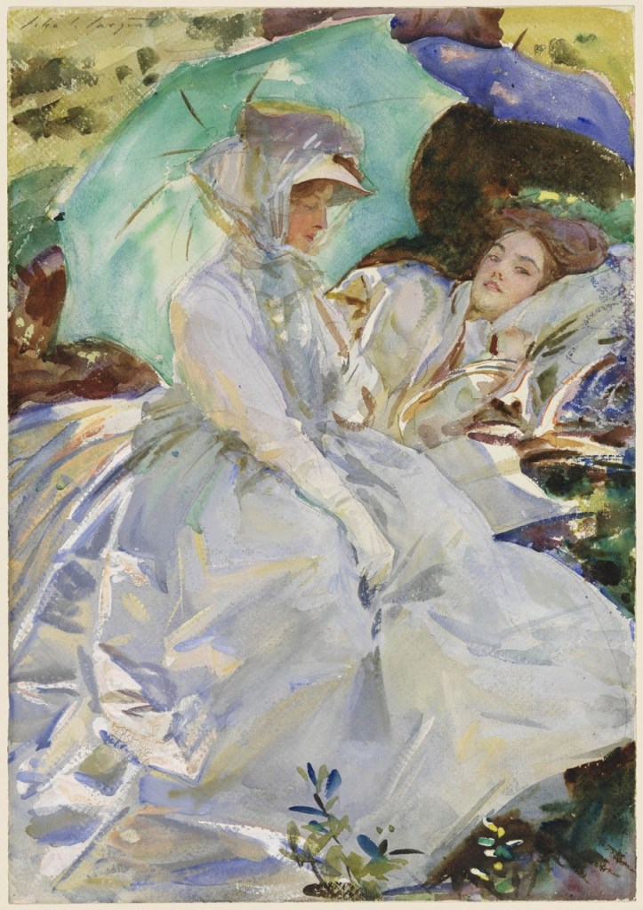 "John Singer Sargent, ""Simplon Pass: Reading,"" c.1911, watercolor, MFA Boston"