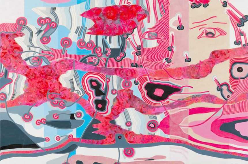 """""""(Self) Worth 3.16.2"""" by Paula Izydorek. Acrylic on beech wood panel."""