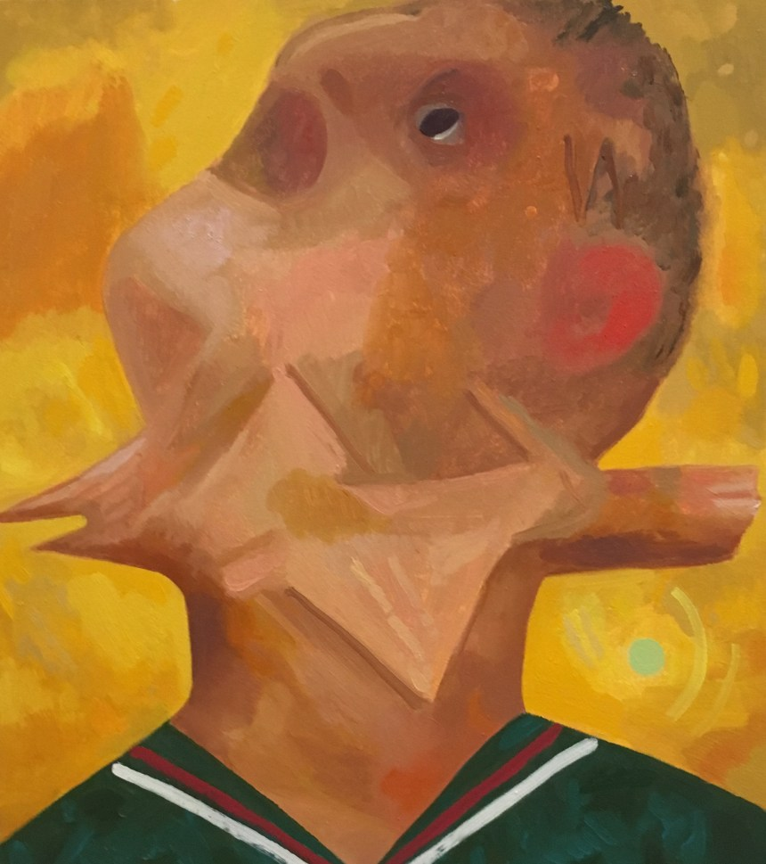 Bird in Throat, 2010. Dana Schutz (American, born 1976). Oil on canvas. 25 x 22 inches. © Dana Schutz, courtesy of Petzel Gallery, New York and Contemporary Fine Arts, Berlin