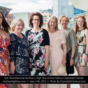 2015 Mother's High Tea Committee. Christianna Brown, Christie Lunsford, Susan Squibb, Caren Kershner, Belita Nelson, Katie O'Block, Sara Conrad. (Not Pictured: CiCi Dunn, Kara Janowski and Jill Lamoureux) Photo Courtesy Cannabis Camera.