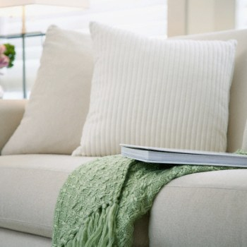 Couch and pillows --- Image by © Tammy Hanratty/Corbis