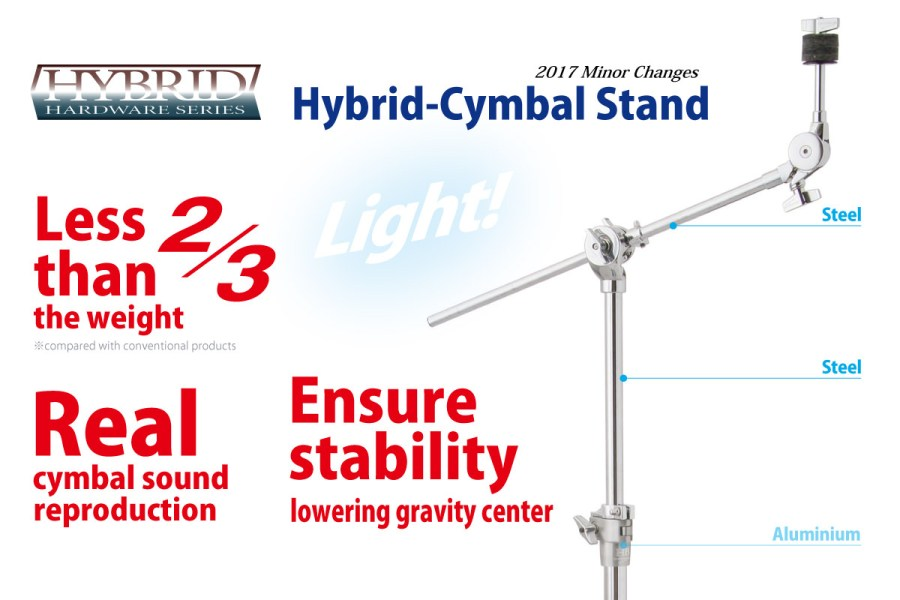 Hybrid Cymbal Boom Stand CBS2-2HY