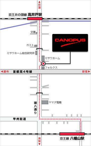 カノウプス CANOPUS DRUMS 地図