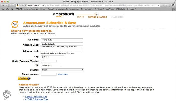 tela-Amazon-endereço