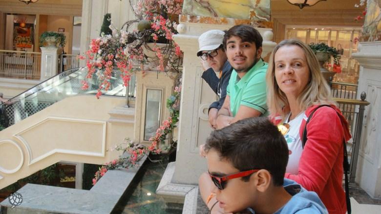 Grand Canal Shoppes eu e os meninos