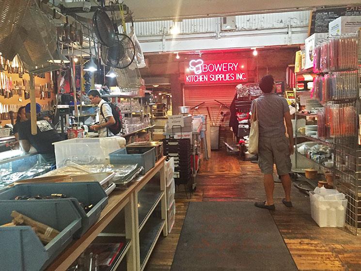 Loja de utensílios de cozinha no Chelsea Market