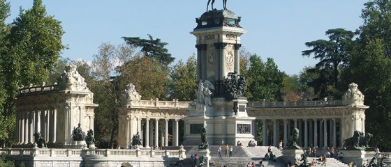 Parque do Retiro em Madrid
