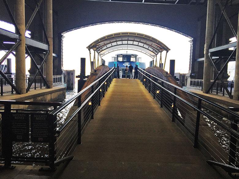 Porto para pegar o ferry em Hoboken