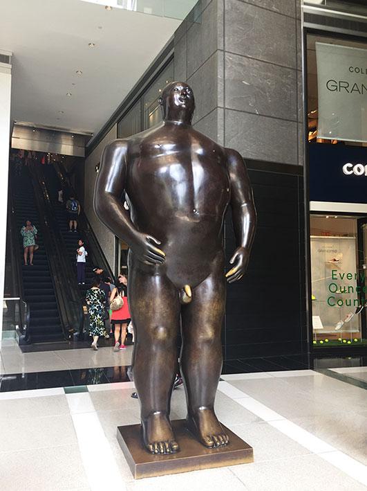 Escultura de Botero no shopping do Time Warner Center