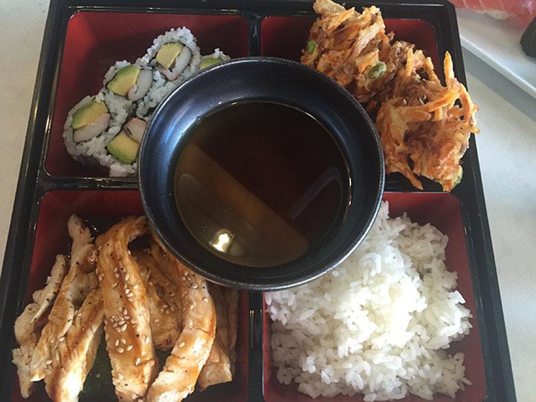 Bento Boxes Salmon Teriyaki