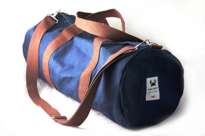 Blue Claw canvas duffel