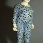 """Blue Belle,"" ceramic sculpture by Denise Buckley."