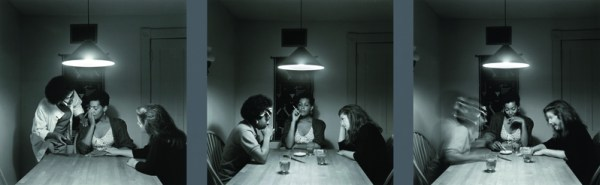 Carrie Mae Weems, Untitled from the Kitchen Table Series, 1990, gelatin silver prints, 27¼ x 27¼ in. each, Collection of the Akron Art Museum, Knight Purchase Fund for Photographic Media 1996.4 a-c