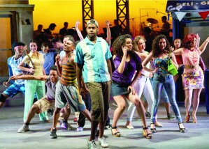 "Ellis C. Dawson III, center, with the cast of ""In the Heights."" PHOTO 