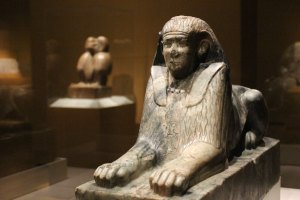 Sphinx of Pharaoh Amenemhat IV, dating back to about 1814 to 1805 B.C.