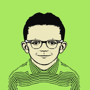"""Mark Mothersbaugh,"" self portrait. Courtesy of Mutato Muzika."