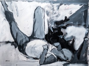 """In the Afternoon,"" 30x40 inches, oil and charcoal on canvas; image courtesy of the artist."