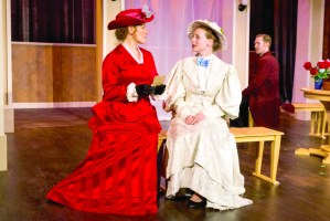 Heather Anderson Boll as Mrs. Erlynne, from left, Rachel Lee Kolis as Lady Windermere, Chris Ross as Lord Windermere. PHOTO | Bob Perkoski
