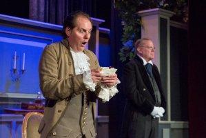 Doug Kusak as Sir Roderick, left, and John Polk as the Steward. PHOTO | Bob Perksoski