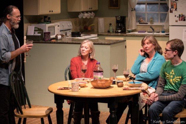 Rick Montgomery Jr., from left, Anne McEvoy, Julia Kolibab and Richie Gagen | Photo / Kathy Sandham