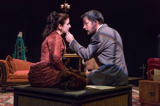 Anjanette Hall as Nora and Abraham Adams as Thorwald. Photo / Bob Perkoski