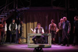 "Charlie Thurston (Will Shakespeare) and the cast of ""Shakespeare in Love."" Photo / Roger Mastroianni"