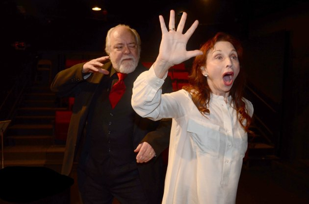 """Tom Fulton and Laura Perrotta in Anat Gov's """"Oh God"""" by Interplay Jewish Theatre. Photo 