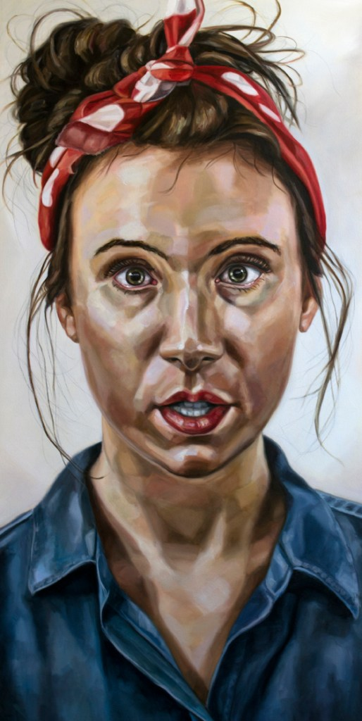 """""""Margaret as Rosie"""" oil on canvas 33 x 66 inches. Artwork courtesy of the artist."""