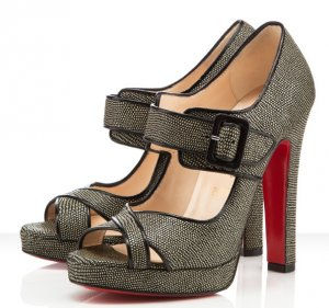 louboutin dordogne peep toe with buckle