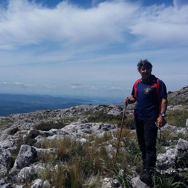 Lobato Hoyos en uno de sus paseos por la Sierra. Foto: Esperanza Cabello.