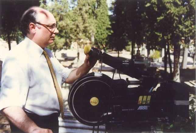 Carlos Pérez Merinero, durante el rodaje de 'Rincones del paraíso'.
