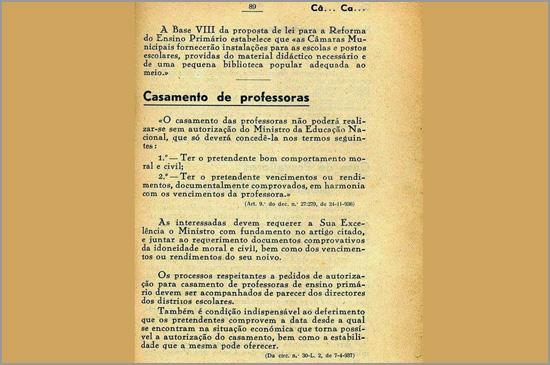 Casamento de Professores - Estado Novo - Capeia Arraiana