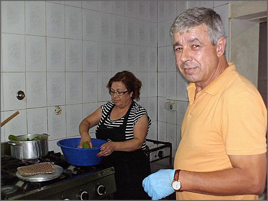 O Sr Oliveira e a esposa, donos do Vadio