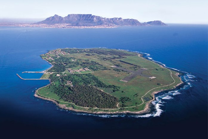 Aerial view of Robben Island Museum