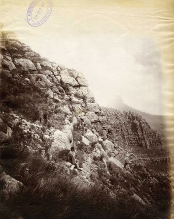Vintage photograph of the view from the face of Table Mountain