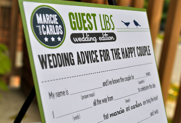 Cape Town Wedding Games Mad Libs