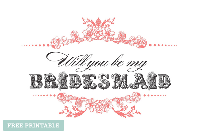 Cape Town Wedding Bridesmaid Printable