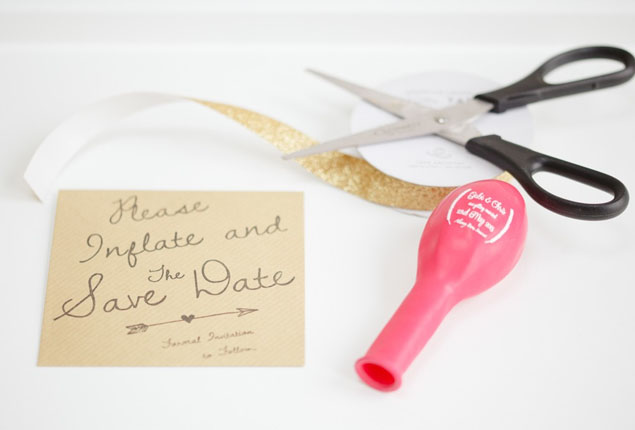 Cape Town Wedding Invites Balloon