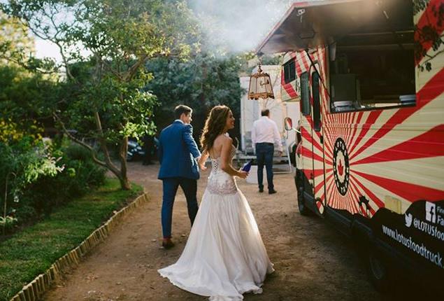 Cape Town Wedding Lotus Food Truck Bride