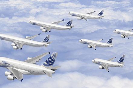aerolíneas alquilan los aviones