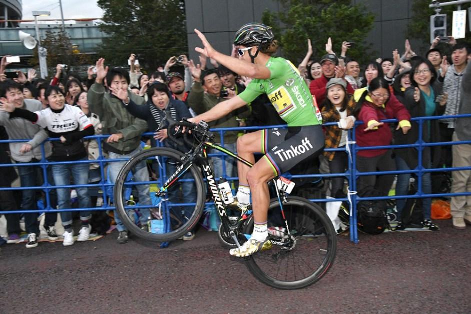 Le Tour de France Saitama Criterium 2016 - 29/10/2016 - Saitama - Japon - Main Race - Arrivée - Célébration de Peter Sagan, Tinfoff, Vainqueur du Saitama Criterium 2016