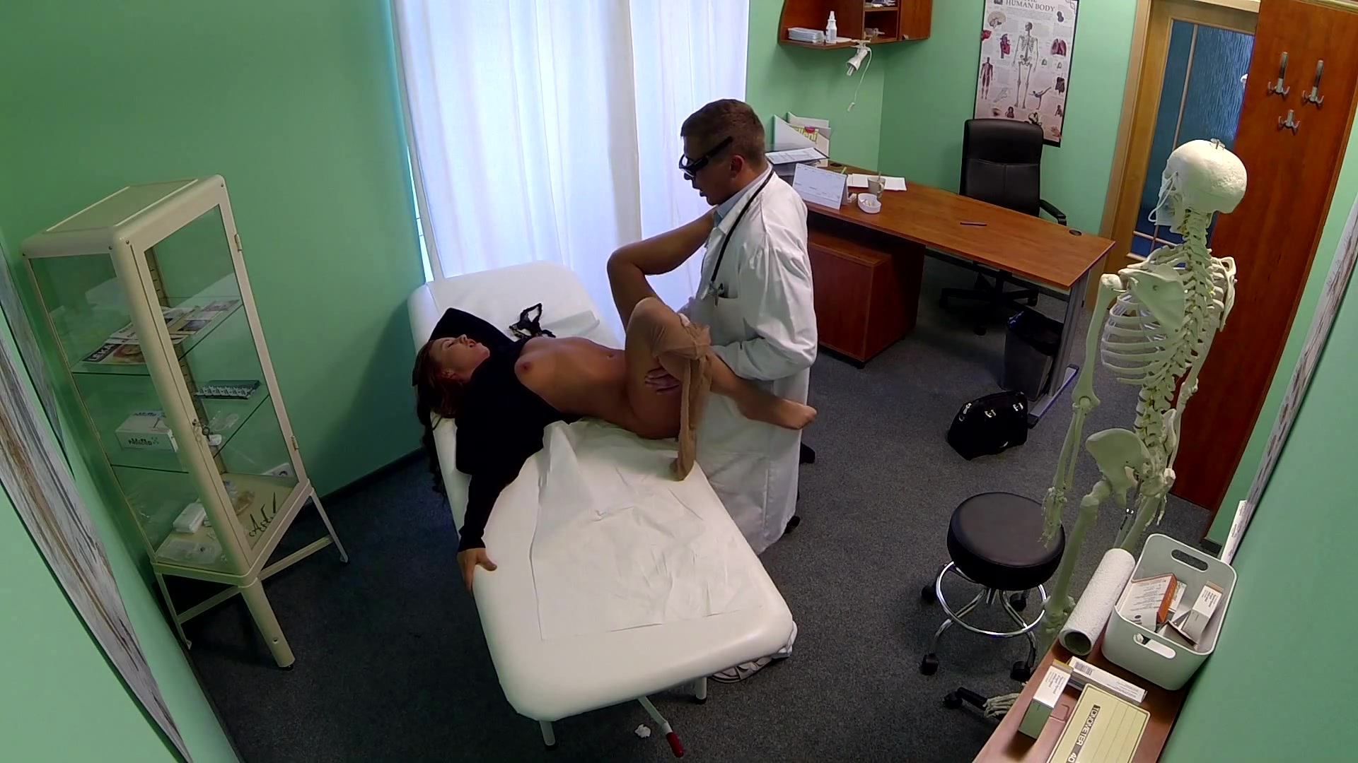 Cute Long Haired Girl Has Sex with the Doctor at His Office