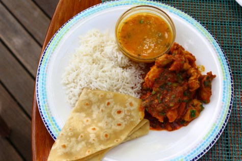 My lunch, chicken curry, exquisite