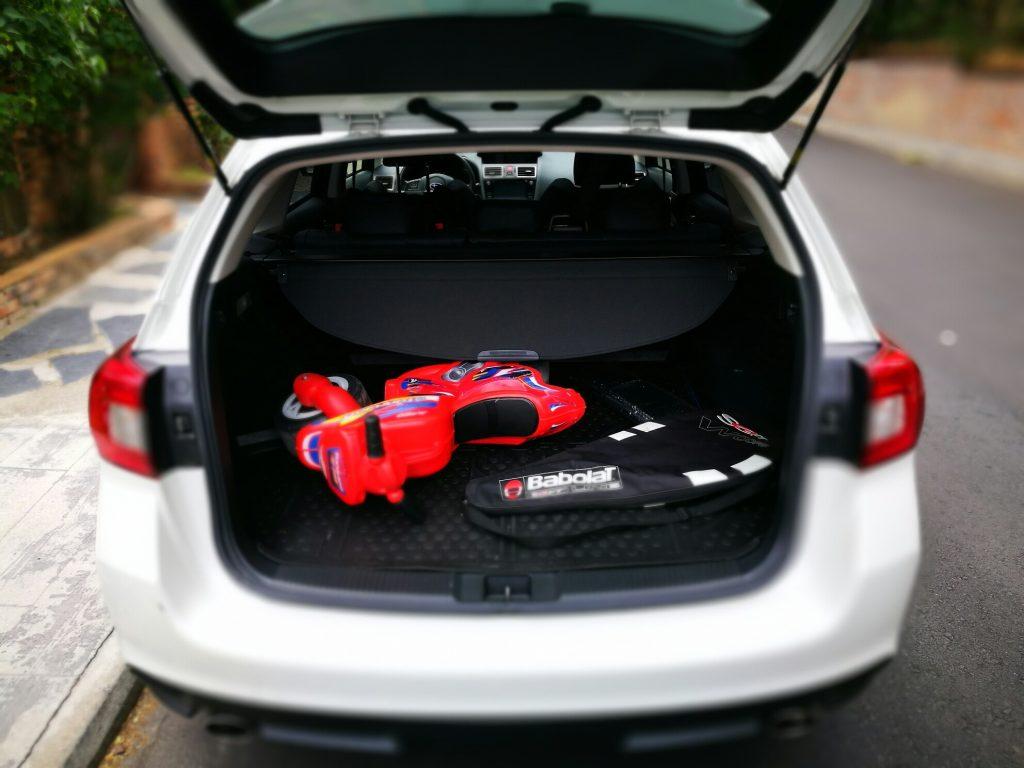 Subaru Levorg. Maletero.