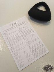 OVO B9 BLack vibrating couples cock ring