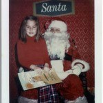 Little Susie with Santa.