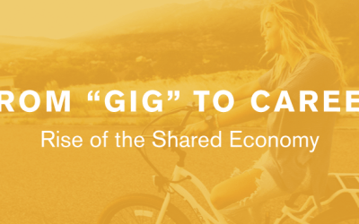 """From """"Gig"""" to Career: Rise of the Shared Economy [Infographic]"""
