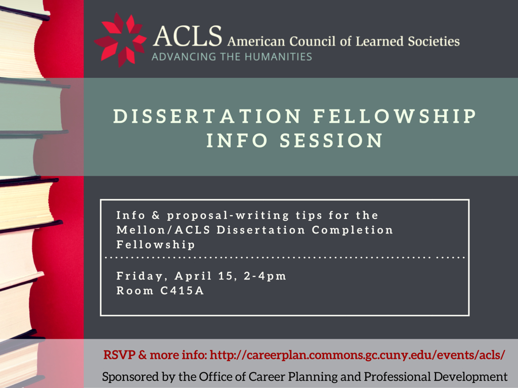 acls dissertation completion fellowship Taylor clement wins 2017-18 mellon/acls dissertation completion fellowship taylor clement wins 2017-18 mellon/acls dissertation completion fellowship wed, 04/12.