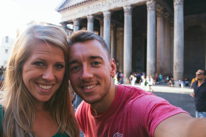 Carrie and Ben in Rome