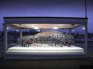 Jaguar XE Word Cloud Sculpture Debuts at London Design Museum